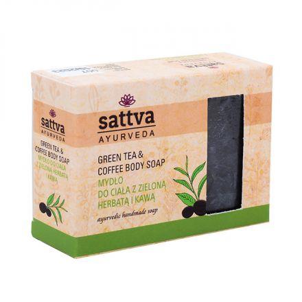 """Sattva Ayurveda - Mydło do ciała """"Zielona herbata & kawa"""" ! 125G"""