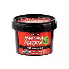 """Beauty Jar - Zeep voor handen en lichaam in gel - Jelly """"Hakuna Matata""""! 130g"""