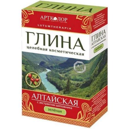 Artkolor - Glinka zielona  Ałtajska z jonami srebra i ekstraktem z dzikiej róży!