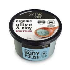 """Organic shop - Naturalny peeling do ciała """"Oliwka z Niebieską glinką""""! 250ml"""