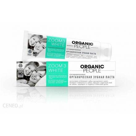 """Organic people - Certyfikowana, Organiczna pasta do zębów """"Zoom 3D White""""! 100g"""