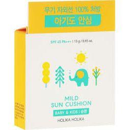 Holika Holika - Mild Sun Cushion Baby & Kids SPF45 kompaktowy krem przeciwsłoneczny w poduszeczce! 15g