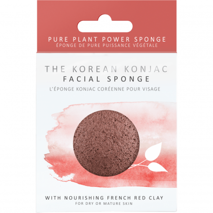 The Konjac Sponge Company - Face Wash Sponge with French Red Clay! 8cm