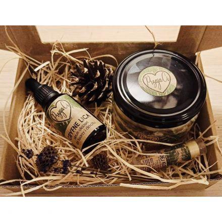 PrzajaCi - Zestaw 3 kosmetyków dla kobiet - Olejek do twarzy, Pomadka do ust, masło do ciała! Vege, Handmade
