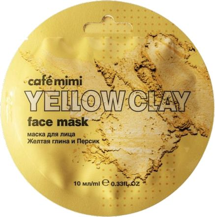 Cafe Mimi - Gezichtsmasker gele klei en perzik! 10 ml