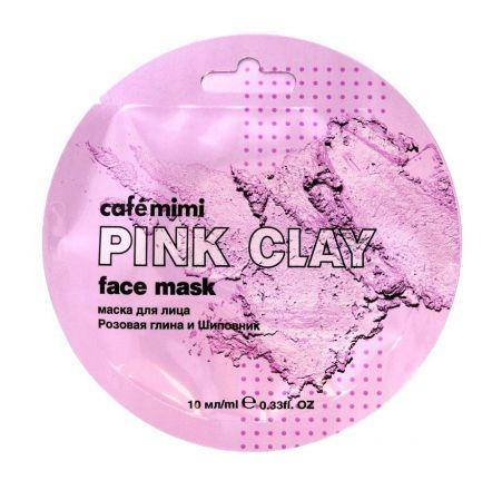 """Cafe Mimi - """"Pink Clay"""" Maseczka do twarzy Różowa Glinka & Dzika Róża! 10ml"""
