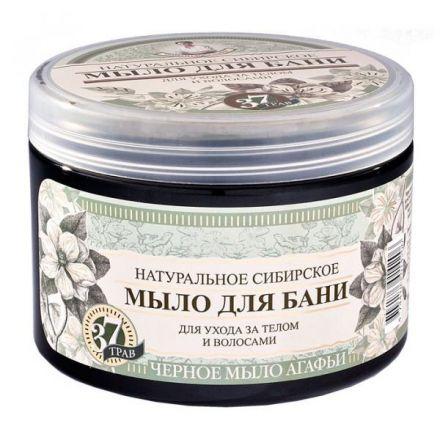 BABCIA AGAFIA - Syberyjskie czarne mydło ziołowe do ciała i włosów! 500 ml