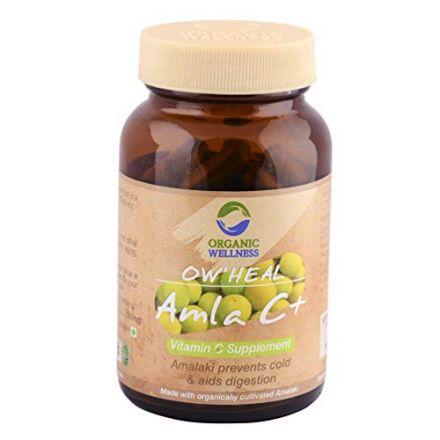 ORGANIC WELLNESS -  Ow Heal, Amla C+ , usuwanie toksyn, odporność, spokój, trawienie! 90 Kaps.