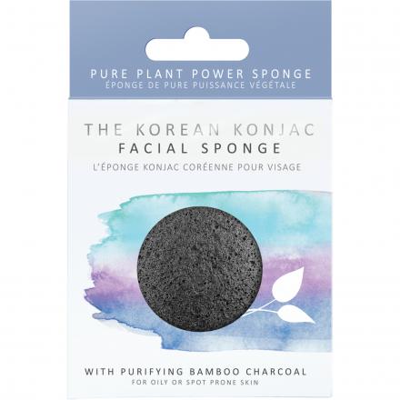 The Konjac Sponge Company - Gąbka z Aktywnym węglem, głęboko oczyszcza skórę!