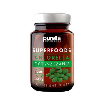 Purella superfoods - Chlorella - oczyszczanie, poprawa kondycji włosów i skóry! 250 tabletek