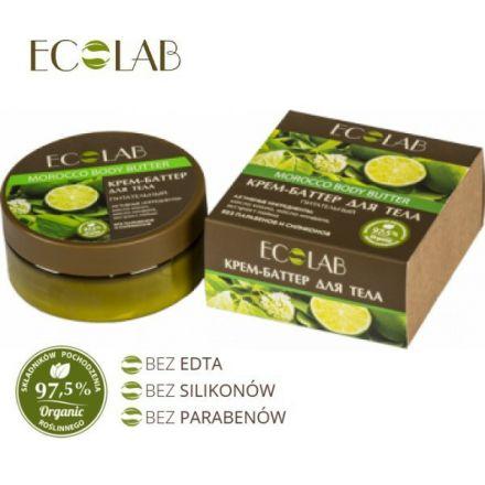 """ECO Laboratorie - Marokańskie masło do ciała - odżywcze, nawilżające 97,5% naturalnego składu - """"Limonka""""! 150ml"""