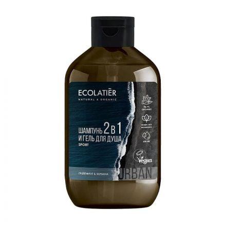 Ecolatier - Szampon-żel 2w1, dla mężczyzn - Sport! 600ml
