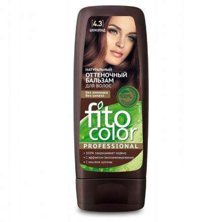 """Fitokosmetik -  """"FitoColor"""" Naturalny Balsam koloryzujący do włosów 4.3 Czekolada! 140ml"""