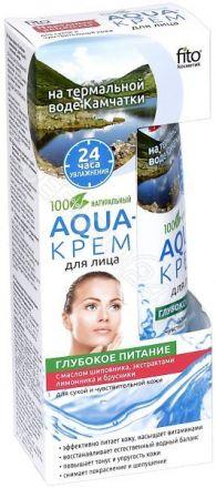 """Fitokosmetik - Aqua krem do twarzy """"Głębokie Odżywienie"""" do cery suchej i wrażliwej! 45 ml"""