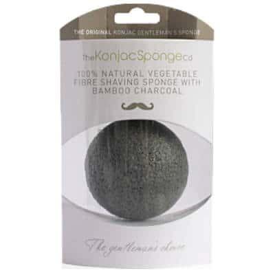 The Konjac Sponge Company - Gąbka Konjac Premium dla mężczyzn do oczyszczania twarzy i golenia z czarnym węglem bambusowym! 1szt