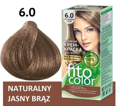"Fitokosmetik - ""FitoColor"" - Naturalna farba do włosów 6.0 Jasny brąz/ naturalny blond!"