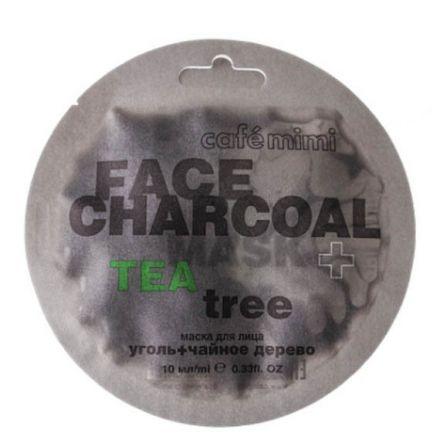 Cafe Mimi - Maseczka do twarzy, Bambusowy węgiel i drzewo herbaciane! 10 ml