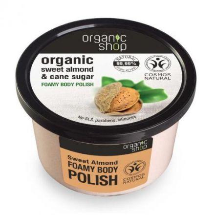 """Organic Shop - Organiczny Scrub do Ciała """"Słodki Migdał""""! 250ml"""