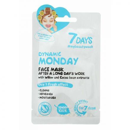 "VILENTA - ""7 dagen"" Gezichtsmasker ""DYNAMIC MONDAY"" Dynamic Monday - reinigt, verfrist en hydrateert! 28g"