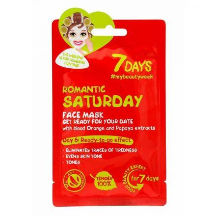 """VILENTA - """"7 dagen"""" Masker in het gezicht strook, tegen tekenen van vermoeidheid - romantische zaterdag """"Romantische zaterdag""""! 28g"""
