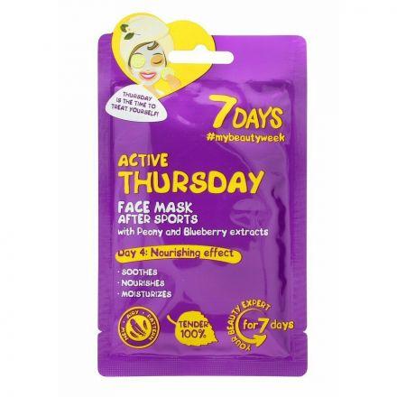 """VILENTA - """"7 dagen"""" Masker in het recht op het gezicht voedende - actieve donderdag """"Actieve donderdag""""! 28g"""
