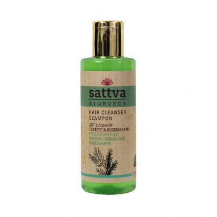 Sattva Ayurveda - Ajurwedyjski szampon przeciwłupieżowy z drzewem herbacianym! 210ml