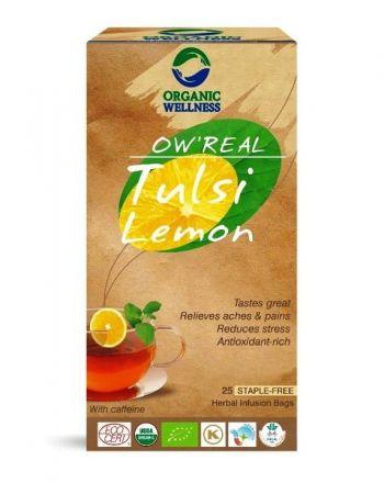 ORGANIC WELLNESS - Herbata tulsi w saszetkach Tulsi Lemon! 25 saszetek