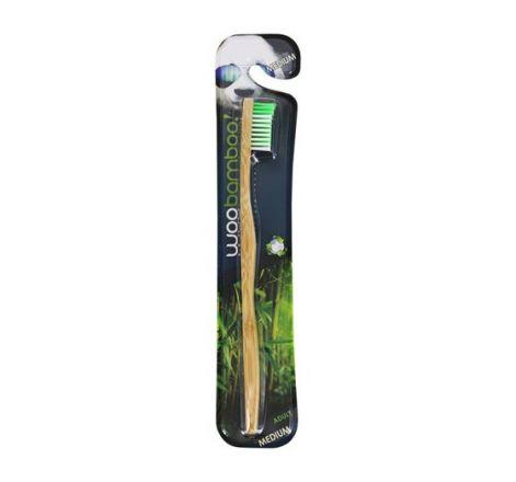 Woo Bamboo - Bambusowa szczoteczka do zębów - MEDIUM