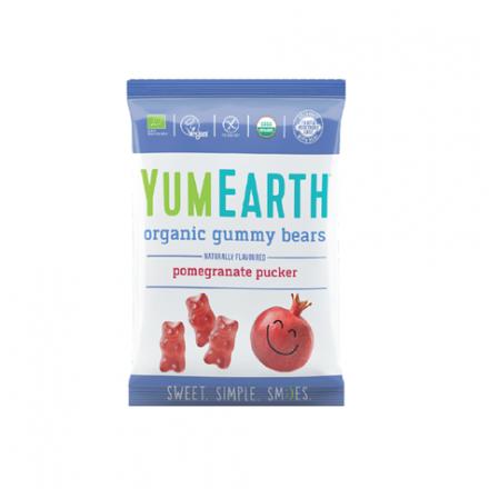 YUMEARTH - Żelki owocowe o smaku granatu z witaminą C, BIO! 50 g